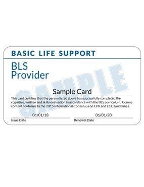 Sample Certification Card
