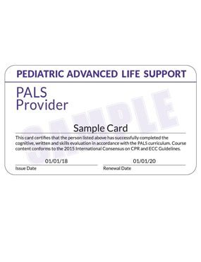 Sample Certification Card