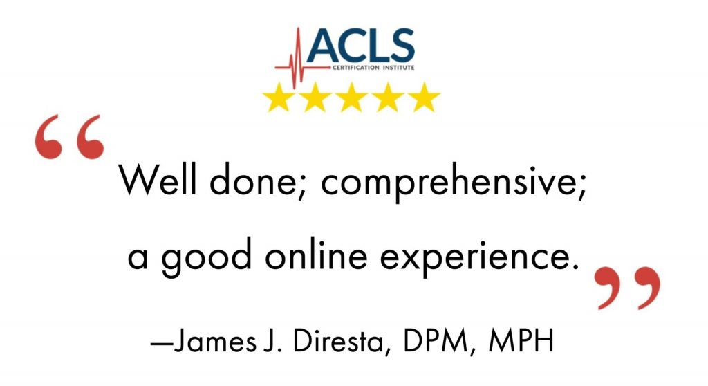 ACLS Certification Institute is a comprehensive online experience