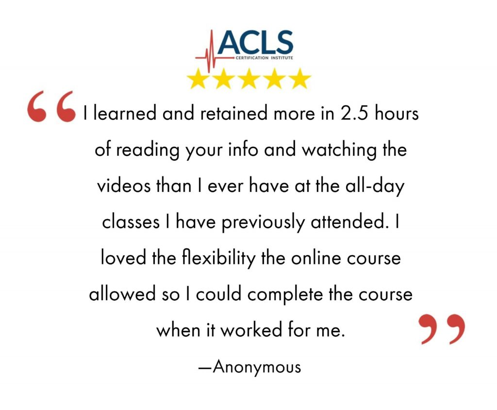 Online flexible ACLS and BLS certifications