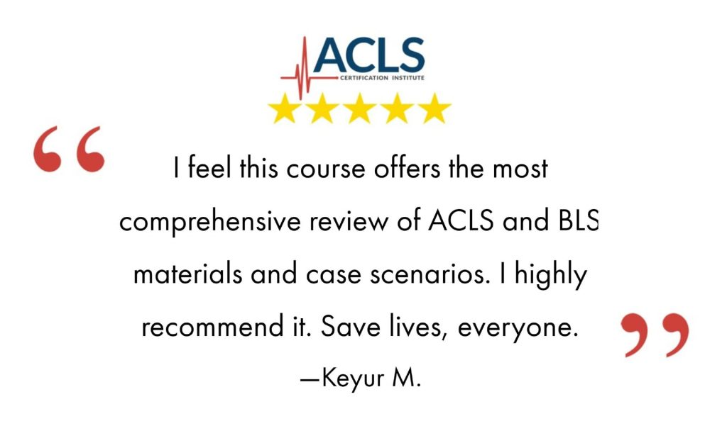 Comprehensive view of ACLS and BLS online certifications